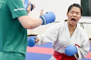 Nữ vận động viên karate miệt mài tập luyện trước thềm ASIAD 2018