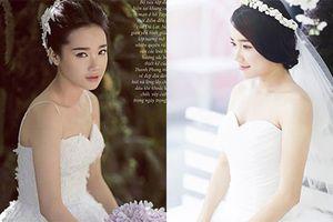 Ngắm Nhã Phương mặc váy cưới xinh như mộng trước tin đồn kết hôn