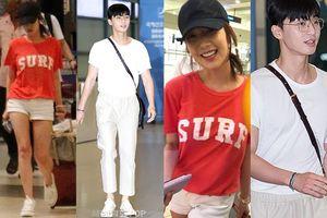 Khăng khăng phủ nhận hẹn hò, fan bắt gặp Park Seo Joon và Park Min Young đi giày đôi sau chuyến du lịch Thái