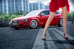 'Chân dài' Trương Vũ Kỳ cá tính bên Audi A5 Sportback 2015 'độ' widebody cực chất