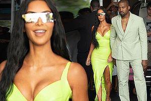 Kim Kardashian siêu quyến rũ sánh đôi chồng dự tiệc cưới ở Miami