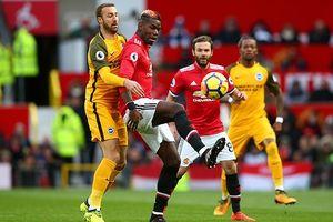 Brighton - MU: Cơn đau đầu của HLV Mourinho vì Pogba
