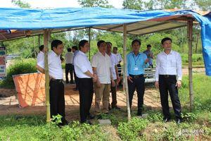 Đoàn học viên lớp quy hoạch Ủy viên BCH Đảng bộ tỉnh thực tế tại Quỳnh Lưu