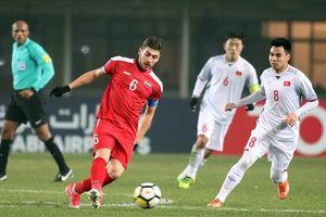 'Nội soi' sức mạnh U23 Syria, đối thủ của U23 Việt Nam ở tứ kết ASIAD 18