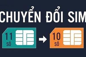 Lộ trình về 10 số của các thuê bao di dộng Vietnamobile và Gtel