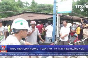 Người dân chặn xe chở dăm gỗ sau tai nạn chết người tại Quảng Ngãi