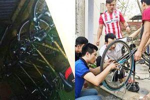 Nghịch lý: Xe đạp cảnh sát 'đắp chiếu', sinh viên còng lưng sửa xe cũ cho trẻ em nghèo