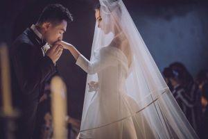 Khoảnh khắc ngọt ngào của Trương Hinh Dư và sĩ quan Hà Tiệp trong đám cưới cổ tích