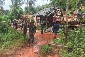 BĐBP Sơn La chủ động bám địa bàn, giúp dân khắc phục hậu quả mưa lũ