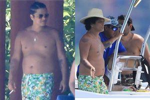 Bruno Mars lộ thân hình ngấn mỡ gây choáng