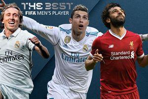 Top 3 cầu thủ xuất sắc nhất thế giới: Messi vắng bóng
