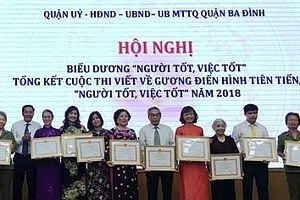 Hà Nội triển khai Cuộc thi viết về gương điển hình tiên tiến, Người tốt, việc tốt năm 2019