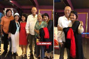Nghệ sĩ Lê Bình tươi tắn cùng đồng nghiệp ủng hộ Song Lang sau khi ra ra viện