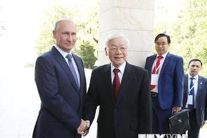 Hình ảnh Tổng Bí thư Nguyễn Phú Trọng hội đàm với Tổng thống Nga Putin