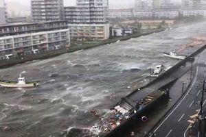 Sức tàn phá kinh hoàng của bão Jebi tại Nhật Bản