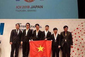 Olympic Tin học quốc tế 2018: Học sinh Việt Nam xếp thứ 2 khu vực ASEAN