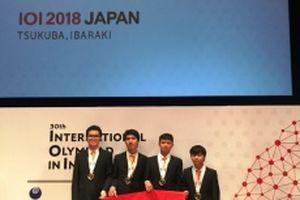 Học sinh Việt Nam giành bốn huy chương Olympic Tin học quốc tế 2018