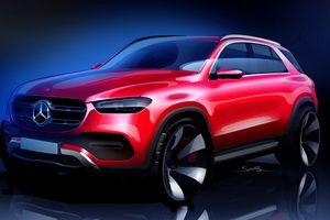 Mercedes công bố phác thảo mẫu SUV GLE 2019 trước ngày ra mắt