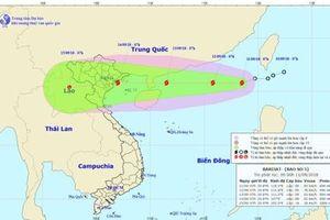 Cập nhật mới nhất tin bão số 5 Barijat 'chồng' siêu bão Mangkhut dồn dập tiến thẳng biển Đông