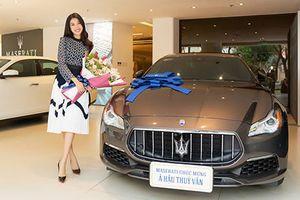 Á Hậu Thúy Vân tậu xe sang Maserati giá 6,9 tỷ đồng