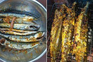 Thơm ngon cá chuồn nướng nghệ