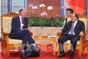 WEF ASEAN 2018: Thủ tướng Nguyễn Xuân Phúc tiếp Tổng Giám đốc Tập đoàn Carlsberg