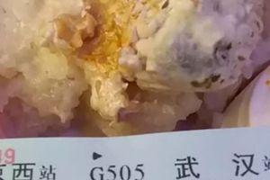 Tàu cao tốc Trung Quốc phục vụ cơm mốc khiến hành khách ngộ độc
