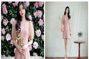 Váy hồng nude tôn nét nữ tính cho phái đẹp