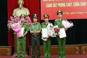 Công an Vĩnh Phúc bổ nhiệm 3 Đại tá làm Phó giám đốc