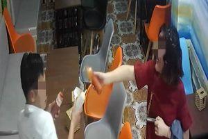 Đôi nam nữ đùa nghịch, vẩy tương ớt tung tóe quán ăn ở Quảng Ninh