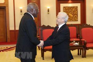 Tổng Bí thư Nguyễn Phú Trọng tiếp đoàn đại biểu Cuba, Thủ tướng Lào