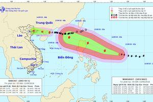 Bão số 5 suy yếu, bão MANGKHUT giật cấp 17 sẽ đi vào Đông Bắc Biển Đông