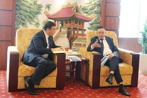 Chủ tịch HĐTV Petrovietnam Trần Sỹ Thanh tiếp Đại sứ Nhà nước Israel
