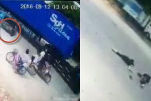 Clip nữ sinh Bắc Ninh 13 tuổi bị container cán chết đúng ngày giỗ mẹ