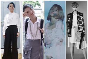 Cứ hễ diện đồ nữ tính một tý, Vũ Cát Tường lại gây xôn xao làng thời trang