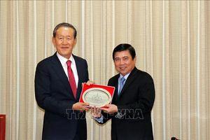 Lãnh đạo Thành phố Hồ Chí Minh tiếp Chủ tịch Liên đoàn Công nghiệp Hàn Quốc