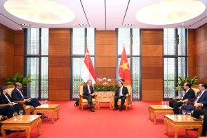 WEF ASEAN 2018: Thủ tướng Nguyễn Xuân Phúc gặp Thủ tướng Lý Hiển Long