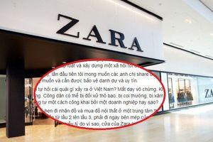 Người phụ nữ bức xúc tố bị nhân viên cửa hàng Zara Hà Nội coi như kẻ cắp, lục soát đồ đạc giữa chốn đông người chỉ vì cửa từ bất ngờ kêu
