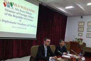 Bộ trưởng Ngoại giao Estonia gặp gỡ cán bộ, sinh viên HV Ngoại giao