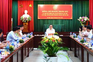 Bí thư Thành ủy Hà Nội Hoàng Trung Hải làm việc với Sở Công Thương