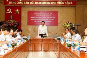 Phó Bí thư Thành ủy Hà Nội Đào Đức Toàn làm việc với Sở Y tế Hà Nội