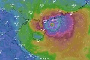 Dự báo ngày 14/9 về đường đi của siêu bão Mangkhut
