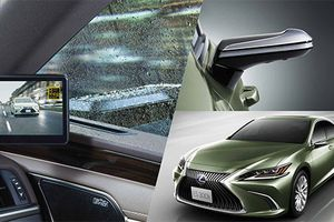 Xe sang Lexus ES 2019 dùng camera thay gương chiếu hậu