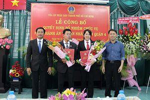 TAND Tp HCM: Bổ nhiệm chức vụ Phó Chánh án cấp huyện