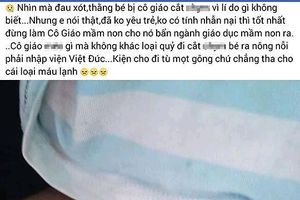 Hà Nội: Thực hư vụ bé trai nghi bị cô giáo dọa 'cắt của quý' làm chảy máu
