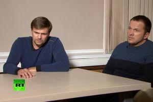 Hai người Nga bị cáo buộc đầu độc cựu điệp viên xuất hiện trên truyền hình