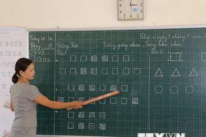 Giờ học tiếng Việt lớp 1 theo chương trình công nghệ ở Nghệ An