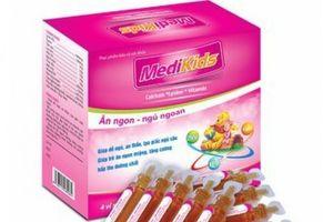 Thực phẩm bảo vệ sức khỏe MEDIKIDS bị thu hồi