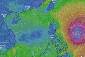 Siêu bão Mangkhut sẽ đổ bộ đất liền vào trưa 17/9