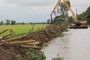 Vỡ bờ bao, thiệt hại 148 ha lúa ở Tháp Mười